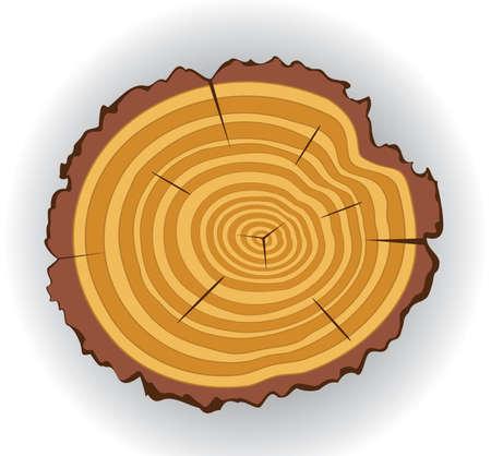 cut logs: vector wooden cut clip-art