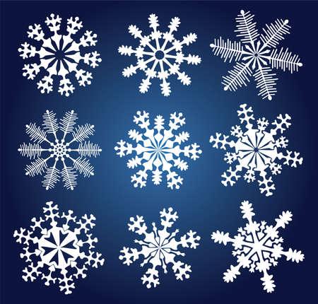 natal: vector set of 9 snowflakes Illustration