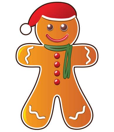 vector gingerbread cookie Vector