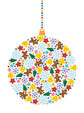 vector xmas holiday decoration Stock Vector - 8406834