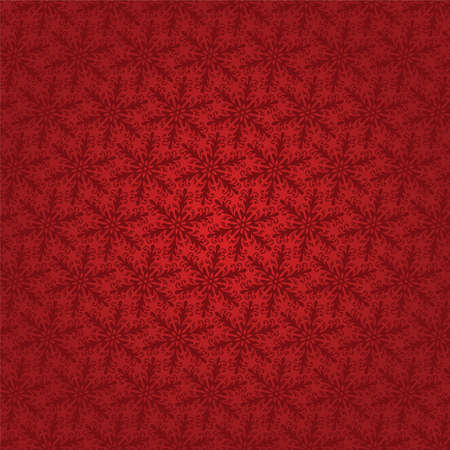 vector red seamless background with snowflakes Vector