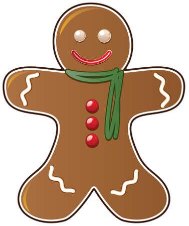 holiday cookies: cookie de pan de jengibre de vector