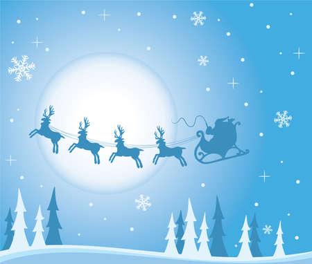 xmas holiday background with santa Vector