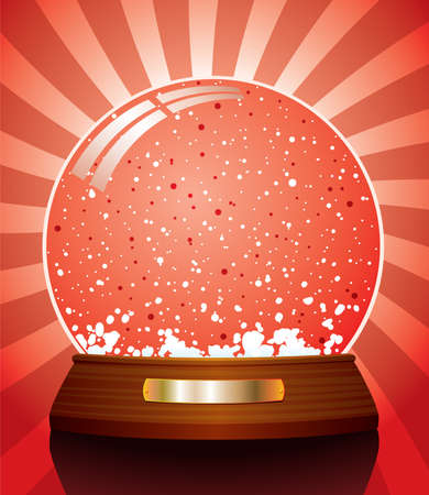 illustration of snow globe Stock Vector - 8437403