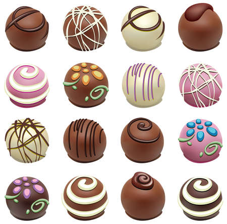 set of chocolate candies