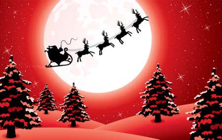 sledge: Fondo de vacaciones de Xmas con santa