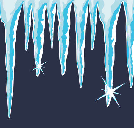 sopel lodu:  błyszczące lodowa Ilustracja
