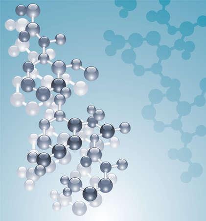 abstract molecule background Vector