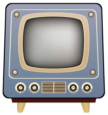 cable tv: retro tv set Illustration