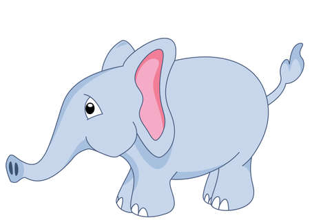 vector baby elephant clipart Vector