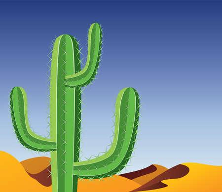 vector cactus in desert Vector