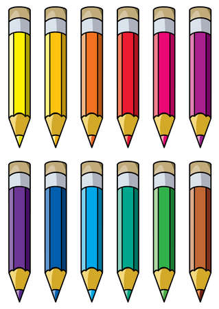 vector colourful pencils clipart Vector