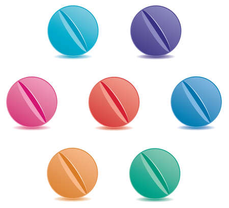 vector set of colorful pills Vector