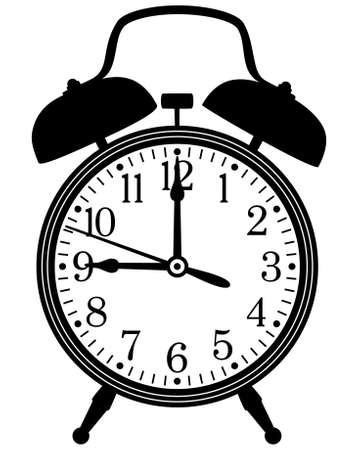 hand bell: vector illustration of retro alarm clock