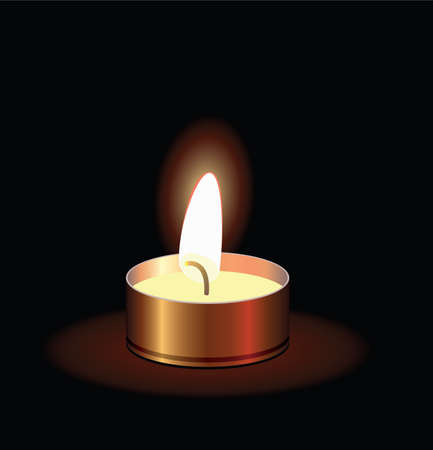 vector illustration of a small burning candle Stock Vector - 8523625