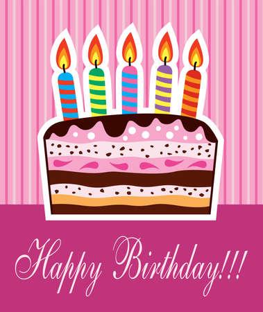 happy birthday party:   pastel de cumplea�os con velas