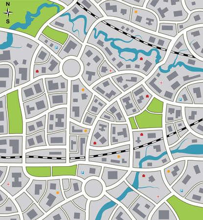 subway: abstract city map Illustration