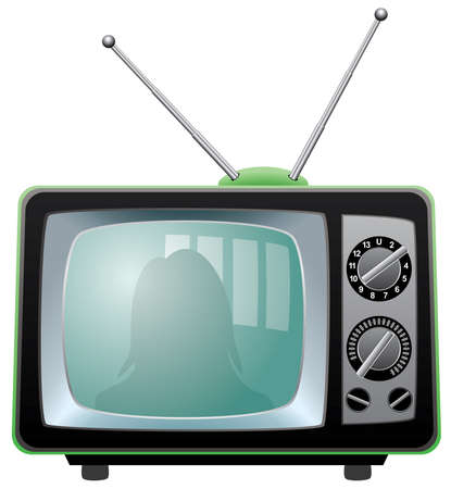 television: retro tv set Illustration