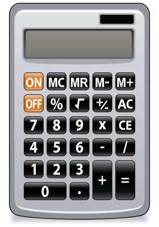 電卓: ビジネス電卓のイラスト  イラスト・ベクター素材