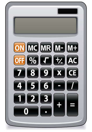 illustration of business calculator Vector