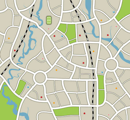 illustration of abstract city map Vector