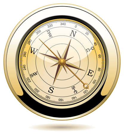 dial compass:  vintage compass Illustration