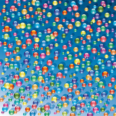background of shiny bubbles Vector