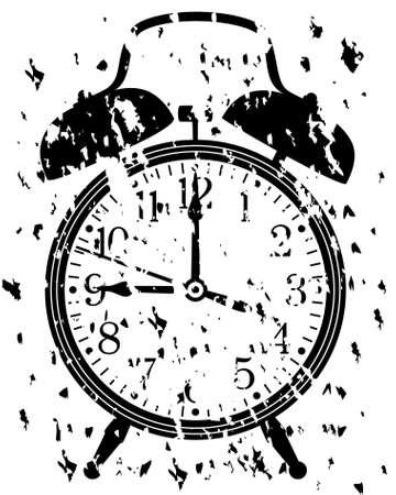 illustration of retro alarm clock Vector