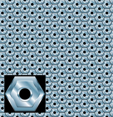 illustration of metal plate with holes Vector