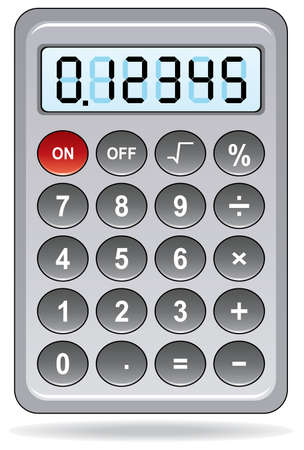 gray calculator Stock Vector - 8903365