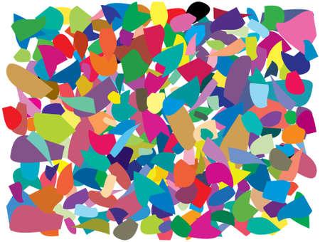 vector background of colorful splinters Vector
