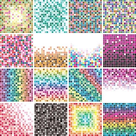 vector set of abstract colorful tile backgrounds Vector
