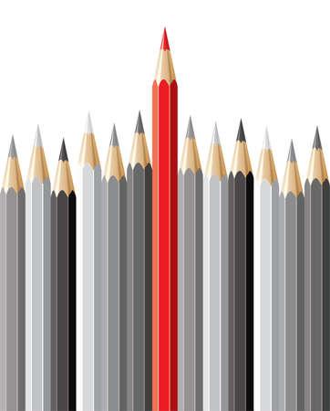 vecteur crayons, concept de leadership Vecteurs