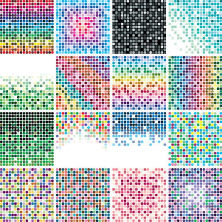 set of abstract colorful tile backgrounds Illustration
