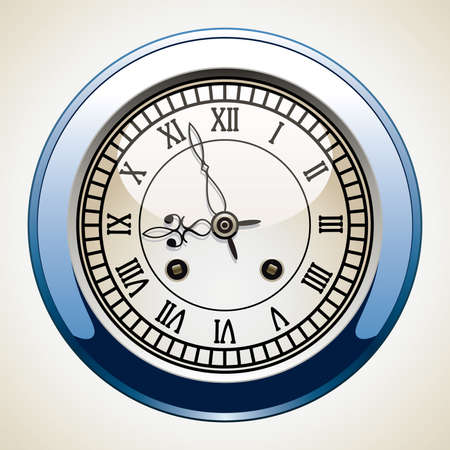 vector vintage clock with roman numbers Stock Vector - 8977689