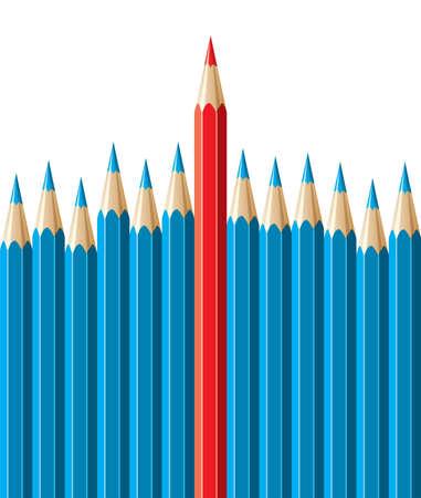 vector pencils, leadership concept Vector