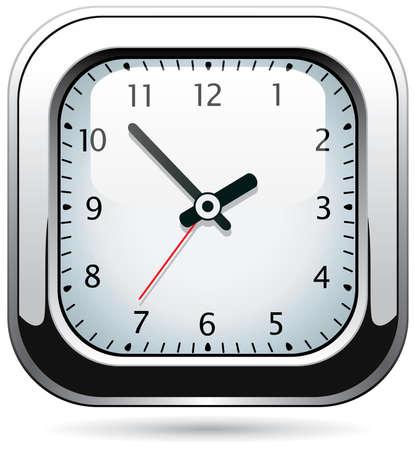 vector silver clock Vector