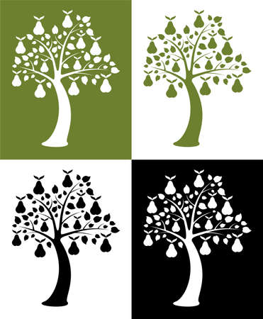 set of pear trees Vector