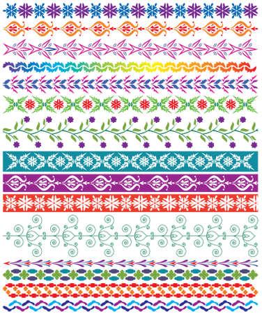 colorful decorative borders Stock Vector - 9137820