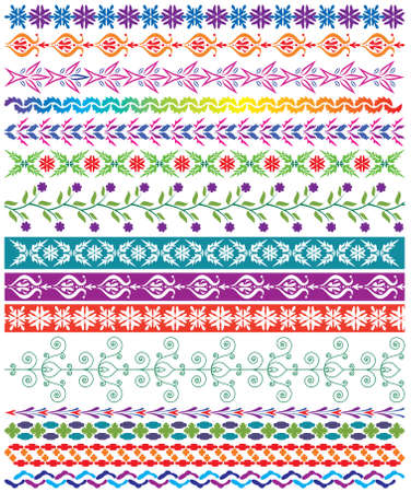 decorative border: colorful decorative borders