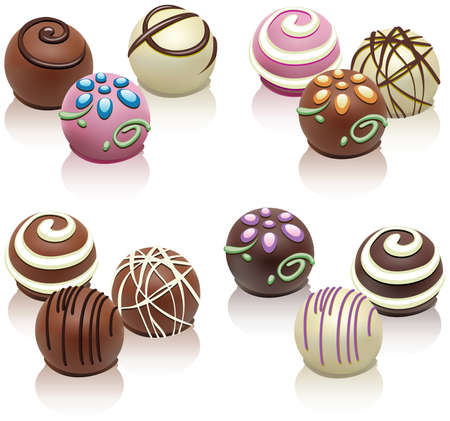 set di caramelle colorate