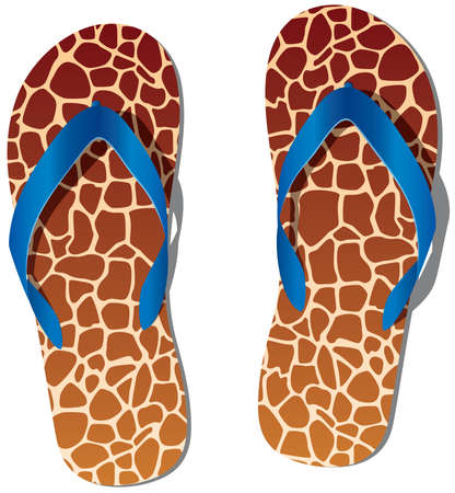 flop: pair of flip flops Illustration