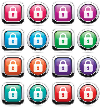 set of icons with locks Vector