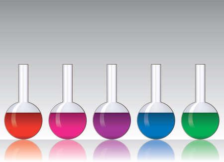 set of laboratory glassware Vector