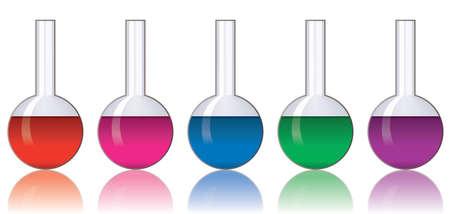 quimica verde: conjunto de vectores de cristaler�a de laboratorio colorido