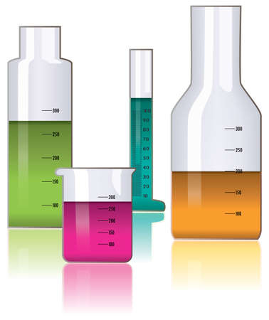 vector set of laboratory glassware Vector