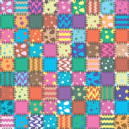 vector patchwork art background  Vector