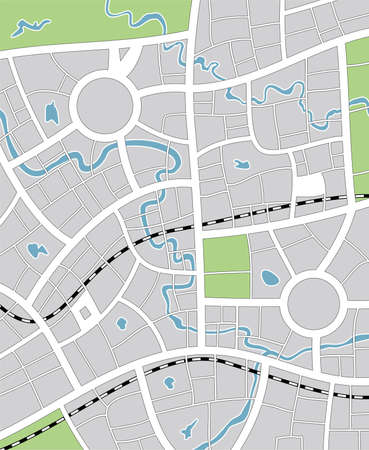 city line: vector illustration of abstract city map