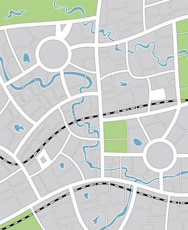 bach: Vector Illustration of abstract Stadtplan Illustration