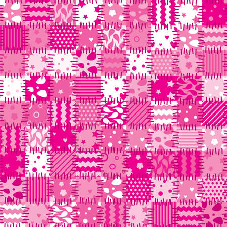 vector pink patchwork art background  Vector
